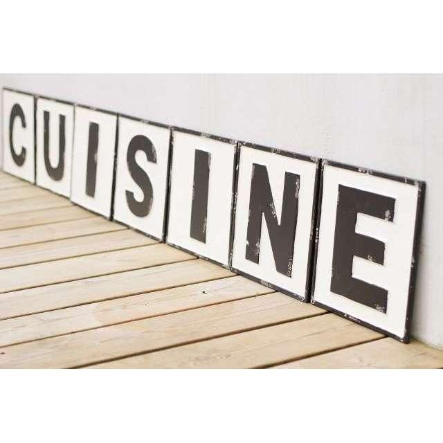 Lettres Cuisine Déco Rétro