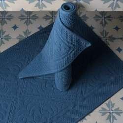 Tapis de Bain Hammam éponge Bleue Outremer