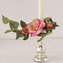 Couronne de Bougie fleurie Ambiance Charme