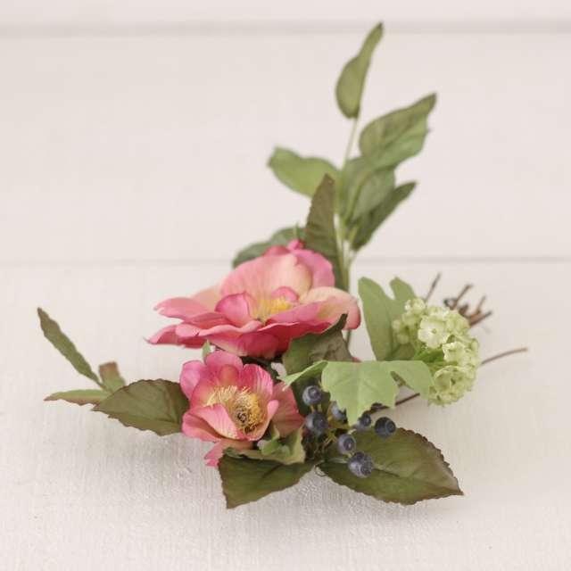 Rond de Bougie Couronne de Fleurs ambiance Charme