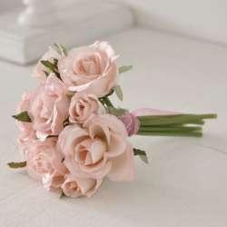 Petit Bouquet de Roses Artificielles Ambiance Shabby chic