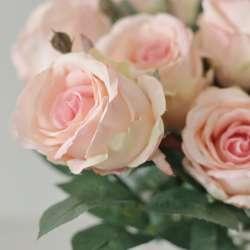 Rose Artificielle Rose Pastel pour Bouquet Décoration Romantique