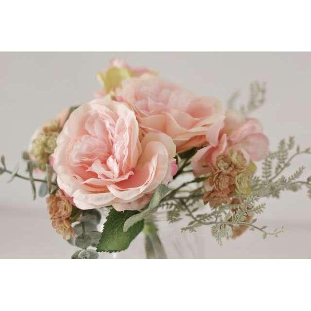Bouquets fleurs roses artificiels