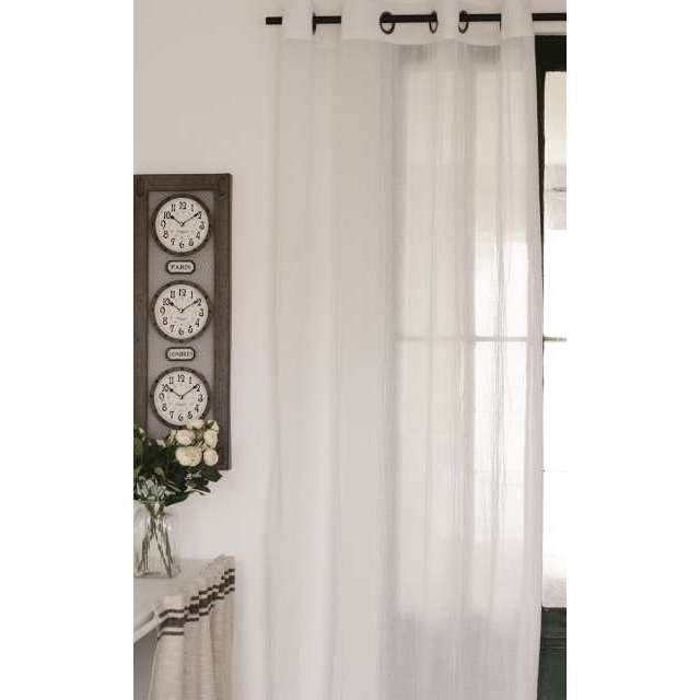 rideau voilage blanc oeillet style romantique