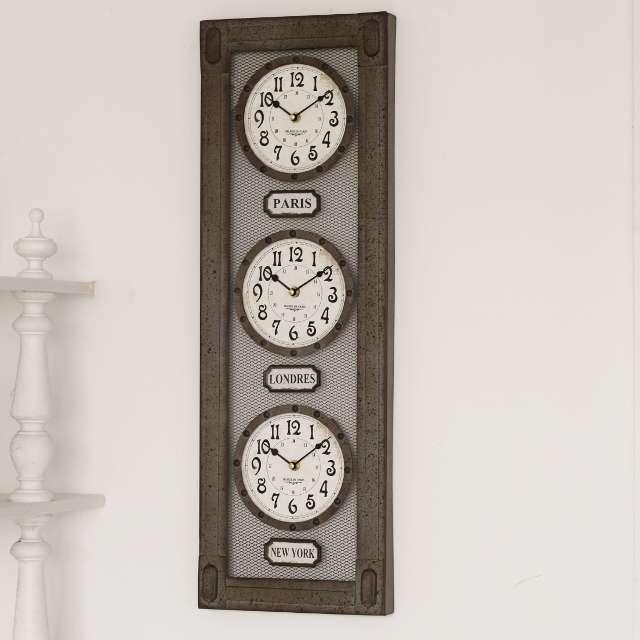 Horloge zinc Deco Rétro