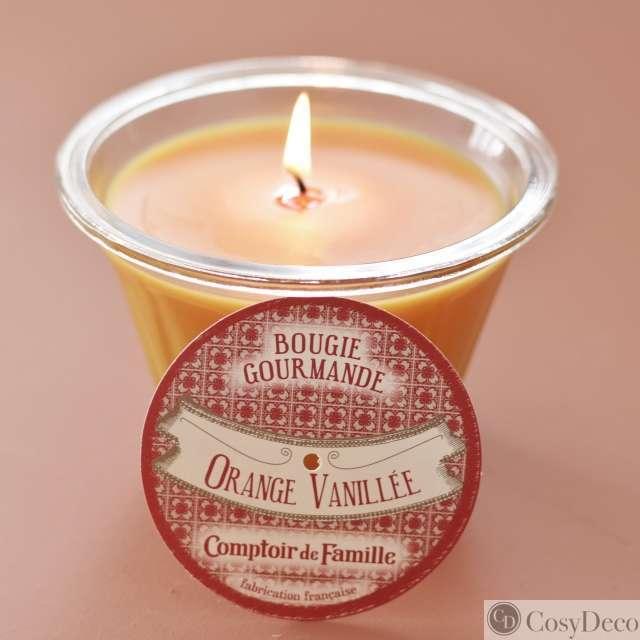 Bougie Orange Vanillée Comptoir de famille