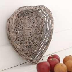 Panière Osier Coeur