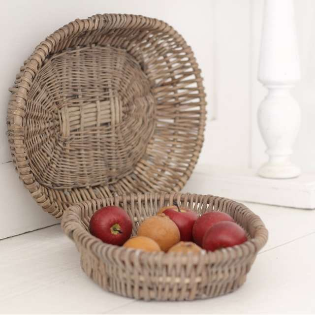Panier osier ambiance Campagne cosy