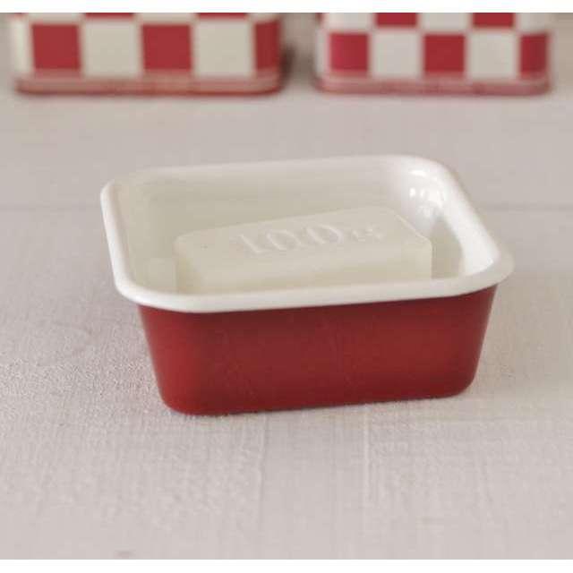 Porte savon cuisine rouge