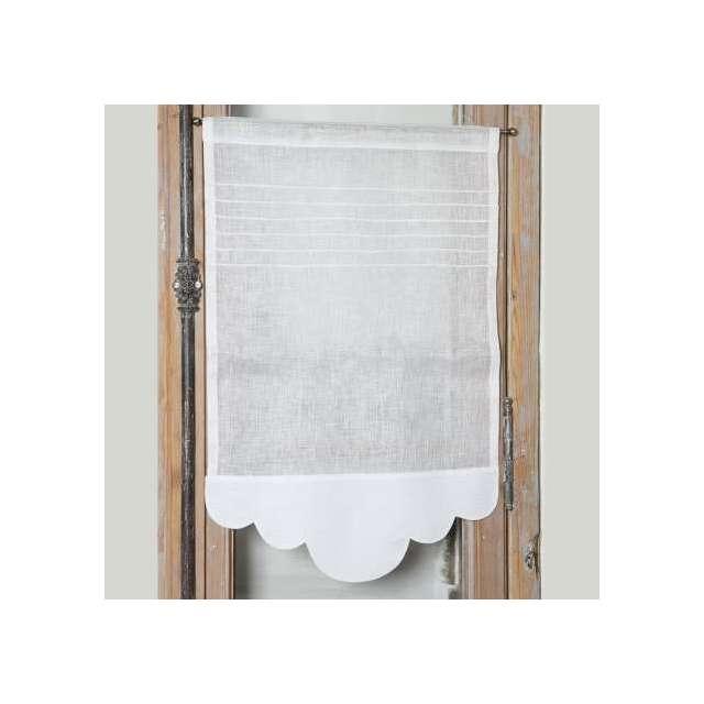 Brise-Bise Simple plis Lin Blanc