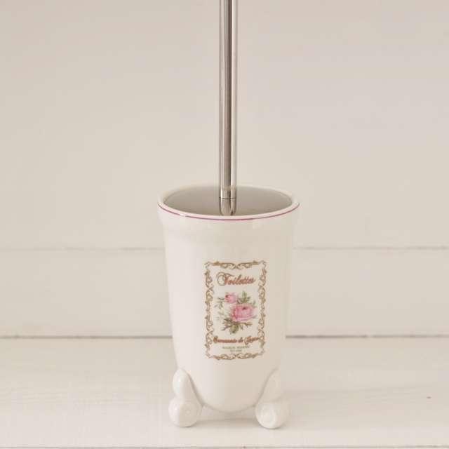 Balayette WC Fleurs Brocante