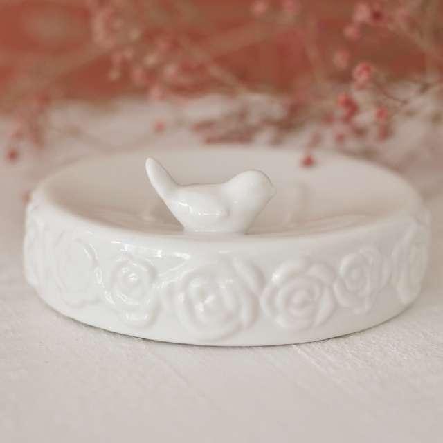 Porte savon Decoration Oiseau Romantique