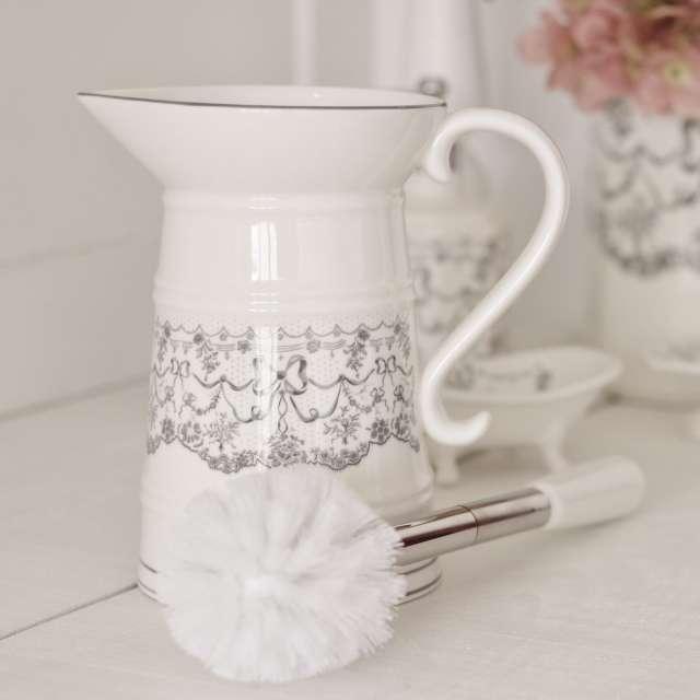 Balayette WC Broc Romantique Mathilde M Aquarelle