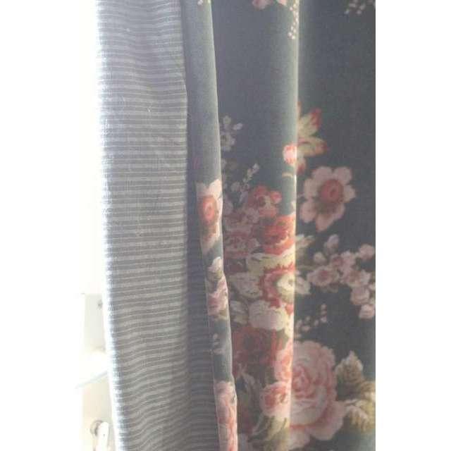 Rideau Velours Fleurs Cosy