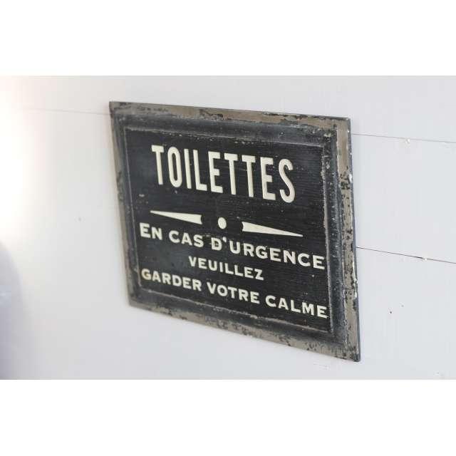 Plaque en Métal Décoration Toilettes