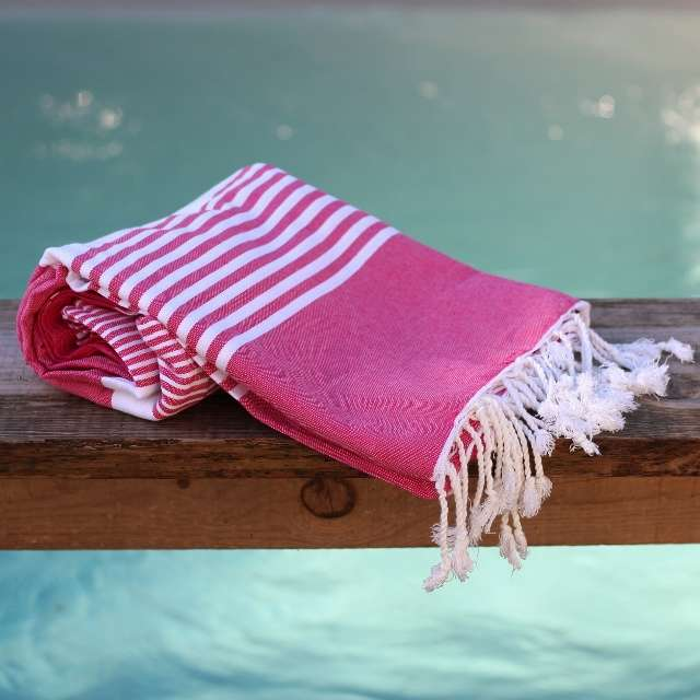 Fouta Grande Taille Rayures 2x2m