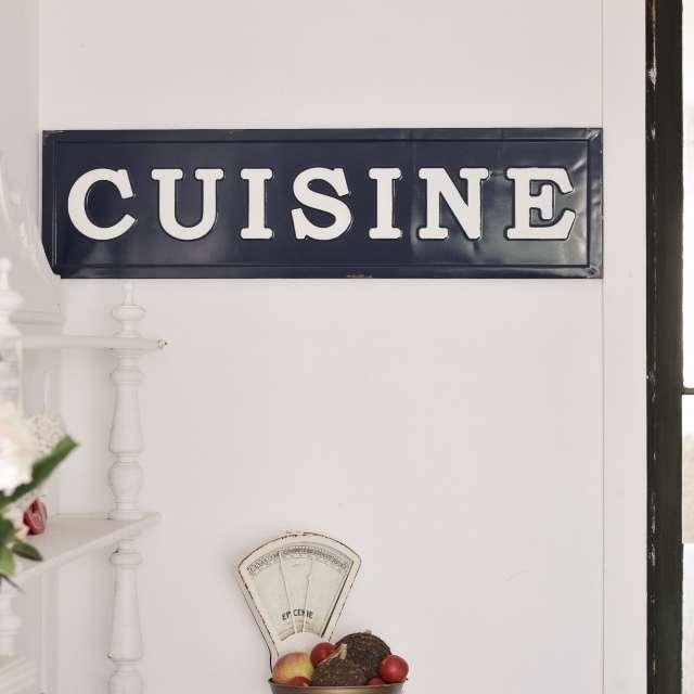 Plaque métal décorative cuisine
