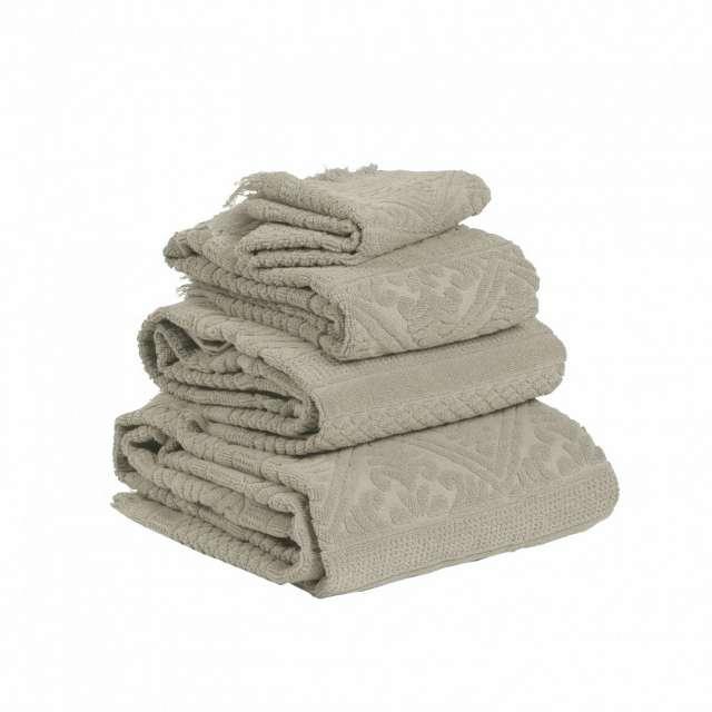 serviette éponge style hammam lin