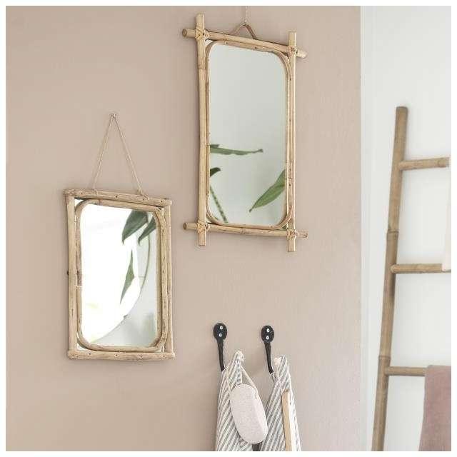 Petit Miroir Bambou naturel