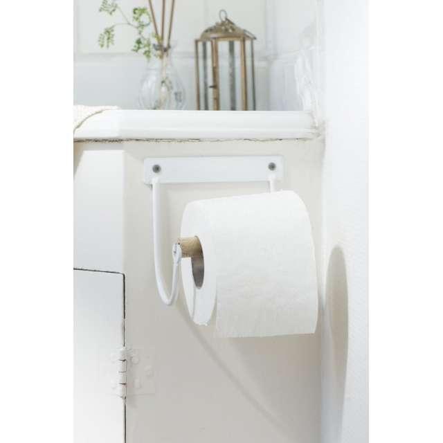 Dérouleur Papier toilettes fer blanc