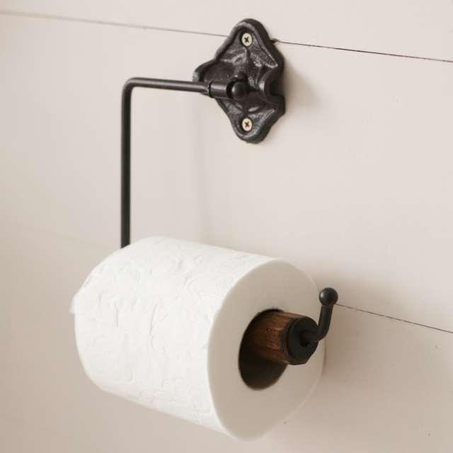 Dérouleur Fonte pour Papier Toilette Style Rétro