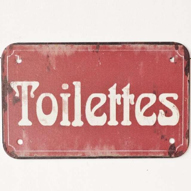 Plaque de Porte Toilettes vintage