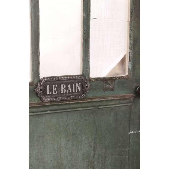 Plaque Le Bain Style Ancien