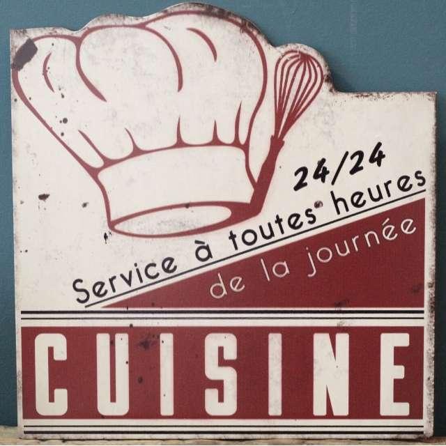 Plaque deco Cuisine du chef décoration Rétro Cuisine.