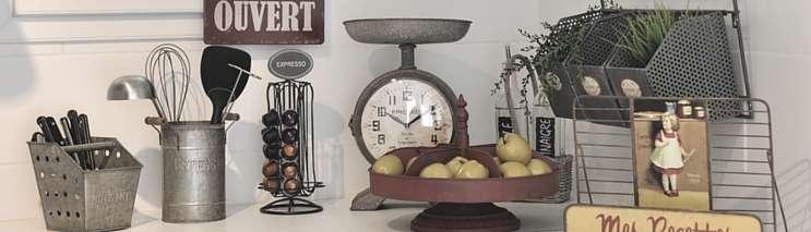 Accessoires d co cuisine objets style r tro et campagne chic - Cuisine style retro ...