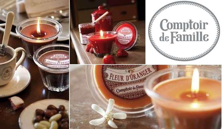 Bougies Parfumées Gourmandes Comptoir de Famille